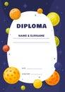 Kids Diploma for preschool or elementary school.