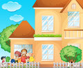 Kids doing chore at home Royalty Free Stock Photo