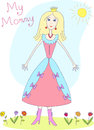 Kids Drawing. The Mother's Day. My Mommy Royalty Free Stock Photo
