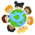 Kids earth diversity