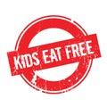 Kids Eat Free rubber stamp