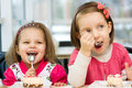 Kids eating Royalty Free Stock Photography
