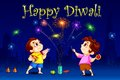 Kids enjoying Diwali