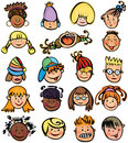 Kids faces. Royalty Free Stock Image