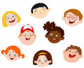 Kids faces Stock Photography