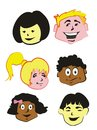 Kids Faces  - icons Royalty Free Stock Image