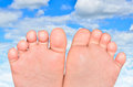 Kids Foot Royalty Free Stock Photo