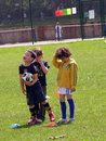 Kids football activities in the park little are course a local london Stock Photography