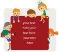 Kids frame notice Royalty Free Stock Photo