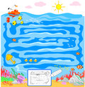 Kids game: sea maze Royalty Free Stock Photography