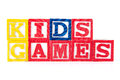 Kids Games - Alphabet Baby Blocks on white Royalty Free Stock Photo