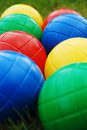 Kids' garden balls Royalty Free Stock Photos