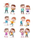 kids good and bad vector illustration