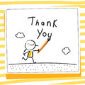 Kids gratefulness thank you card Royalty Free Stock Photo
