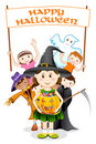 Kids in Halloween Costume Royalty Free Stock Photography