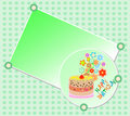 Kids happy birthday party cake beautiful flowers Royalty Free Stock Image