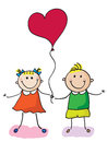 Kids with heart Royalty Free Stock Image