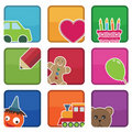 Kids icons Royalty Free Stock Photos