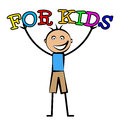 For kids indicates toddlers children and child showing son childhood Royalty Free Stock Photography