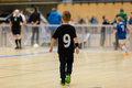 Kids indoor soccer match Royalty Free Stock Photo
