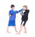 Kids Kickboxing Fight Royalty Free Stock Photo