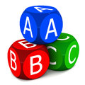 Kids learn abc Royalty Free Stock Photo