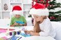 Kids Making Christmas Greeting...