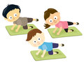 Kids on mats Stock Image