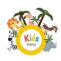 Kids menu design Royalty Free Stock Photo