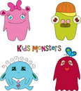 Kids monsters Royalty Free Stock Photography
