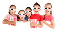 Kids in the movies Royalty Free Stock Photo