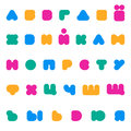 Kids multicolored rounded bold Cyrillic font.