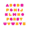 Kids multicolored rounded bold English font. .
