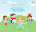 Kids and music, vector illustration of four girl in a music band, Children playing Musical Instruments