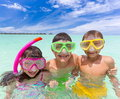 Kids in the ocean Royalty Free Stock Photography