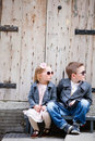 Kids outdoors Royalty Free Stock Photos