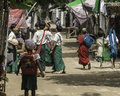 Kids in pagan go back from the school the village myanmar burma Stock Photography