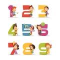 Kids Party Retro Icons Set