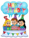 Kids party theme image eps vector illustration Stock Photography