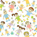 Kids pattern Stock Photos