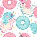 Kids pattern with unicorns