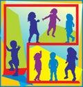 Kids at play illustration Royalty Free Stock Photo