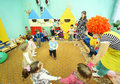 Kids play in kindergarten Stock Photo