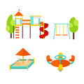 Kids Playground with Elements. Vector