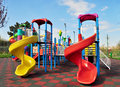 Kids playground placed in a park Stock Photography