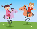 Kids Playing on Kiddie Rides Royalty Free Stock Photo