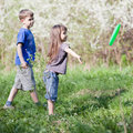 Kids playing outside Royalty Free Stock Images