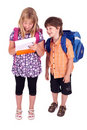 Kids posing for back to school theme Stock Images
