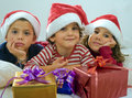 Kids and presents Stock Photo