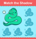 Kids puzzle game to Match the Shadow of a snake